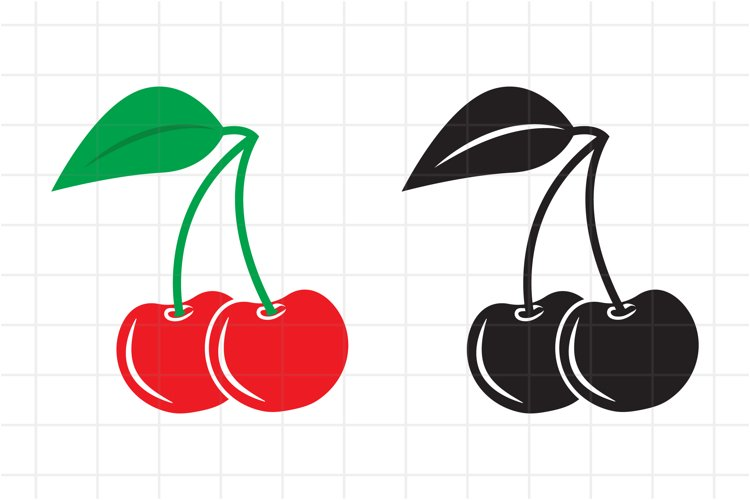 Cherry SVG, Cherry icon, Vector Cut File for Cricut example image 1