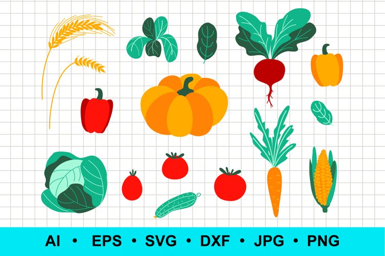 Vector vegetable set example image 1