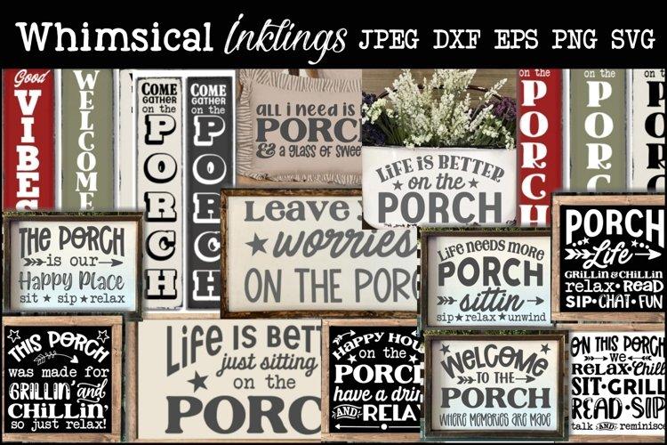 On The Porch Bundle-16 Designs- Svg Set example image 1