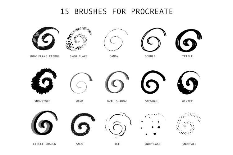 Procreate Lettering Brushes   Winter Pack Bonus example 5