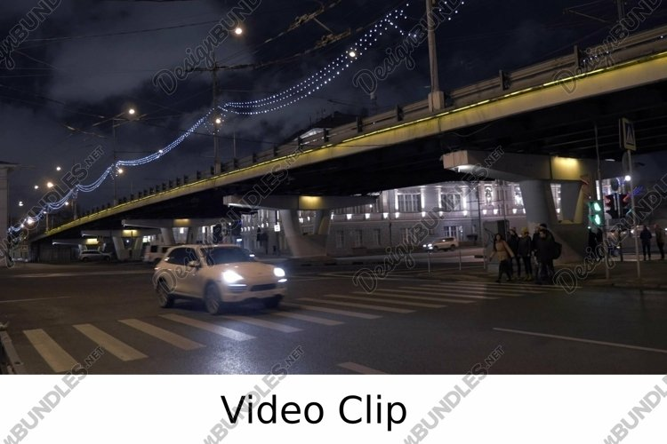 Video: Pedestrians crossing the road on green light example image 1