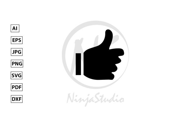 Thumbs up Icon In Flat Style Vector example image 1