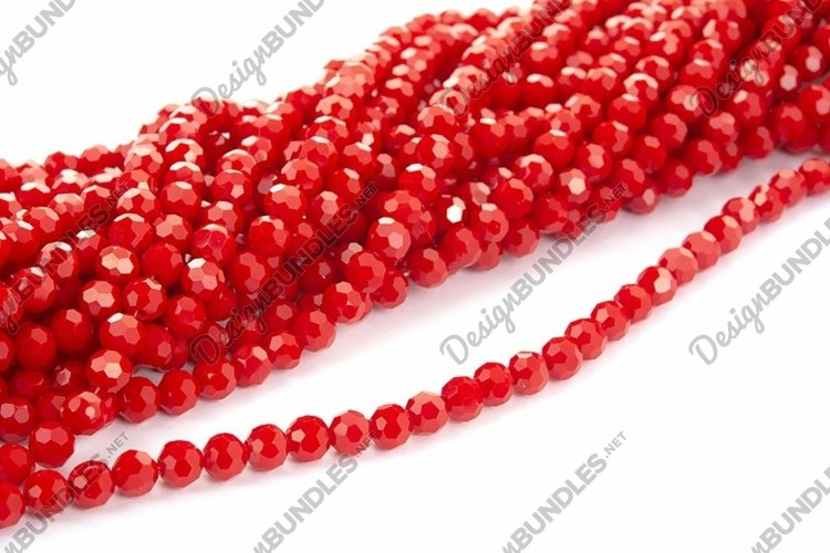Photo of red Beautiful Sparkle Crystal Beads Texture example image 1