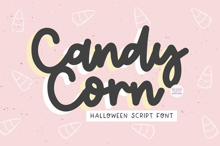 CANDY CORN Halloween Script Font