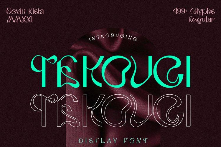 TEKOUCI - Display Font