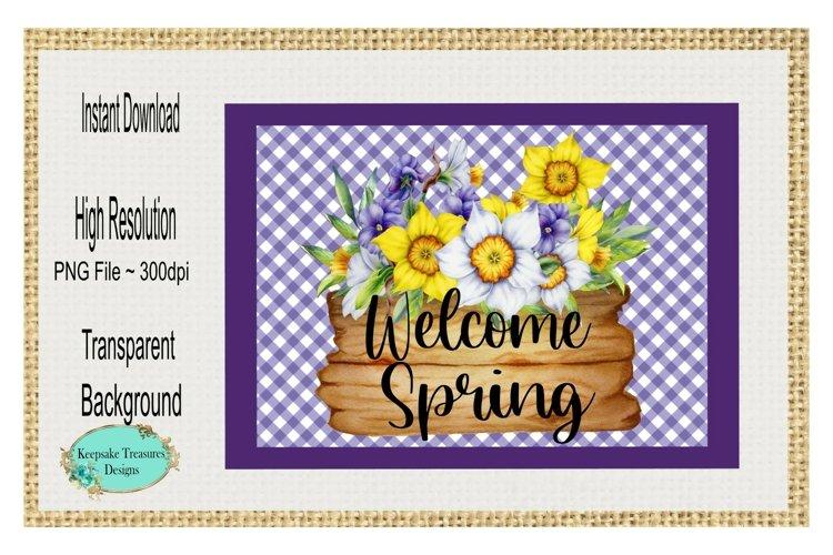 Welcome Spring, Door Mat Template