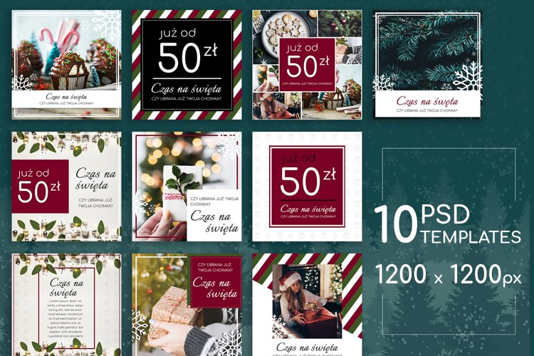 Christmas Time Posts Pack example image 1