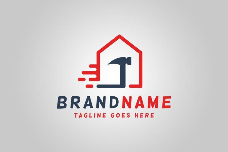 Fast House Repair Logo Template example image 1
