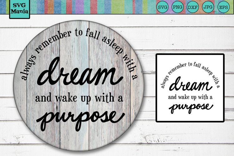 Round SVG File, Circle SVG, Quote SVG for Round Wood Signs example image 1
