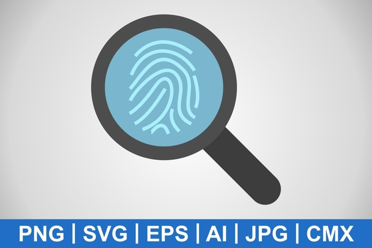 Vector Finger Print Icon example image 1