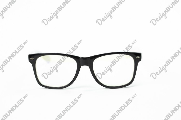 Modern stylish glasses for sight in black plastic frame example image 1