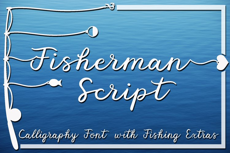 Fisherman Script - A Fun Script Font with Fishing Extras example image 1