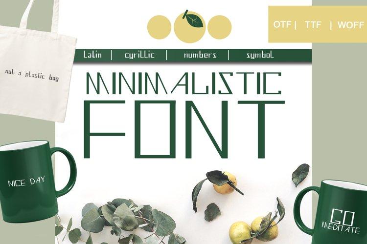 Minimalistic font - display font example image 1