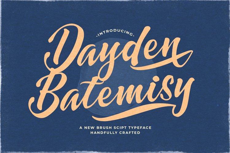 Dayden Batemisy - Brush Script Font example image 1