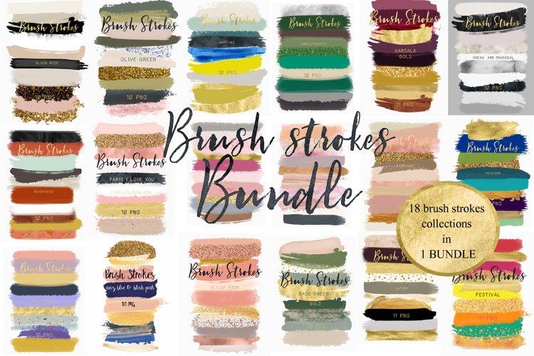 Brush strokes BUNDLE example image 1