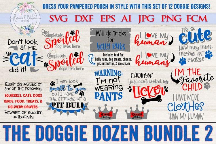 The Doggie Dozen 2 Bundle of 12 Dog SVG Cut Files