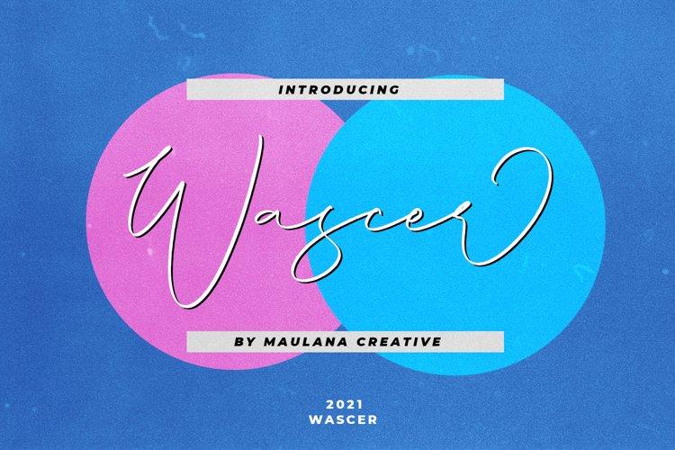 Wascer Modern Script Brush Font example image 1