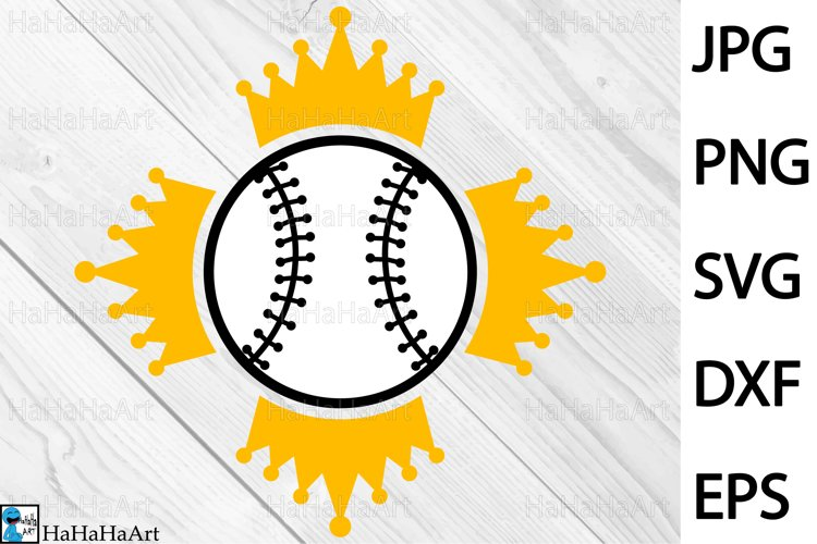King Baseball Design - Clip art / Cutting Files 1333c example image 1