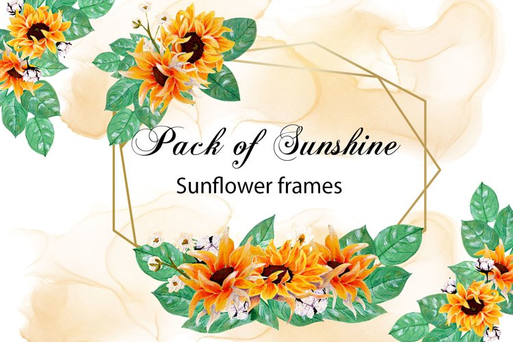 Pack of sunshine- hand painted sunflower frames example image 1