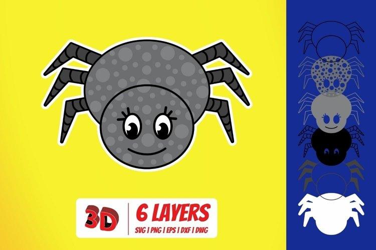 3D Spider SVG Cut File | Animals | Mandala