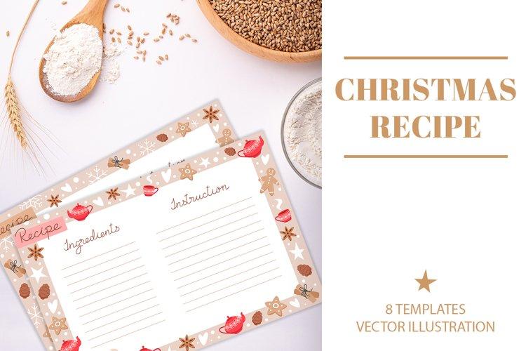 Christmas baking recipe templates
