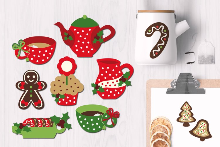 Christmas Tea Party Graphic Illustrations example image 1