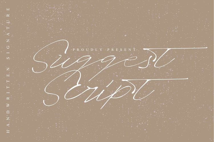 Suggest script signature font example image 1