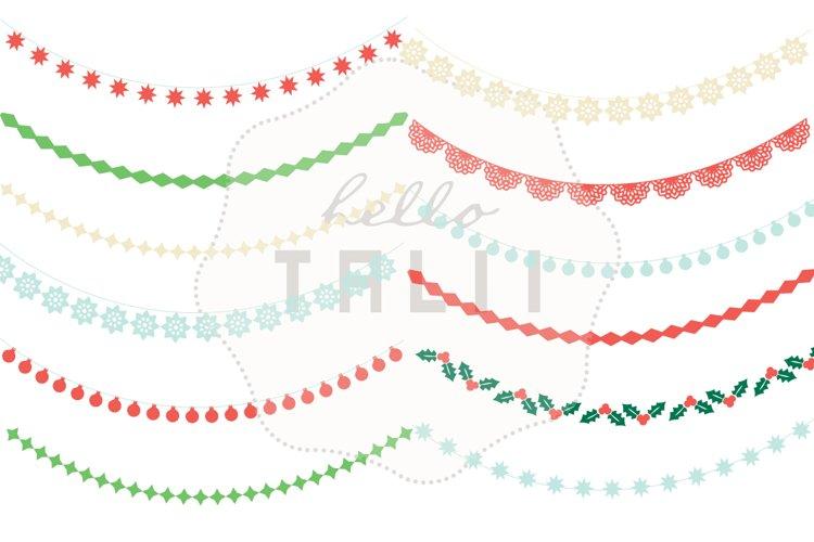 Christmas Garlands Clip Art example 1