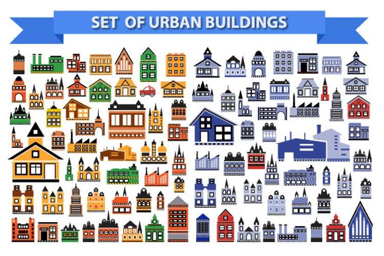 Set of urban buildings example image 1