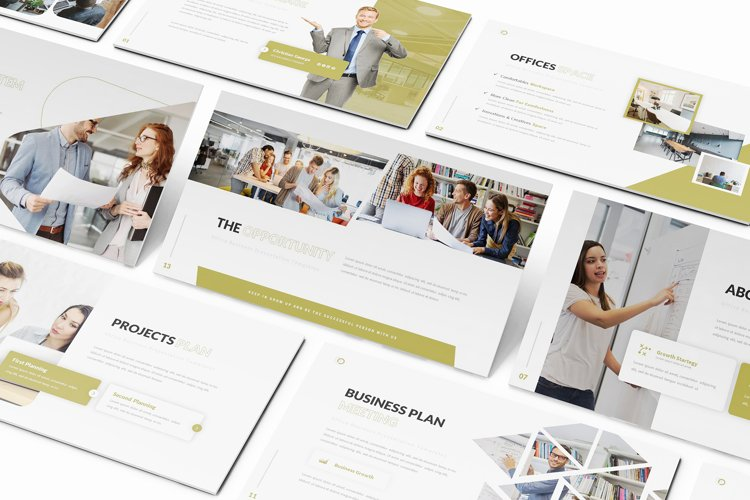 Blocks Offices Keynote Template example image 1