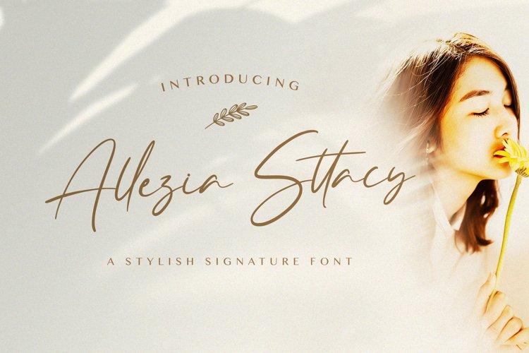 Allezia Sttacy - Handwritten Font example image 1