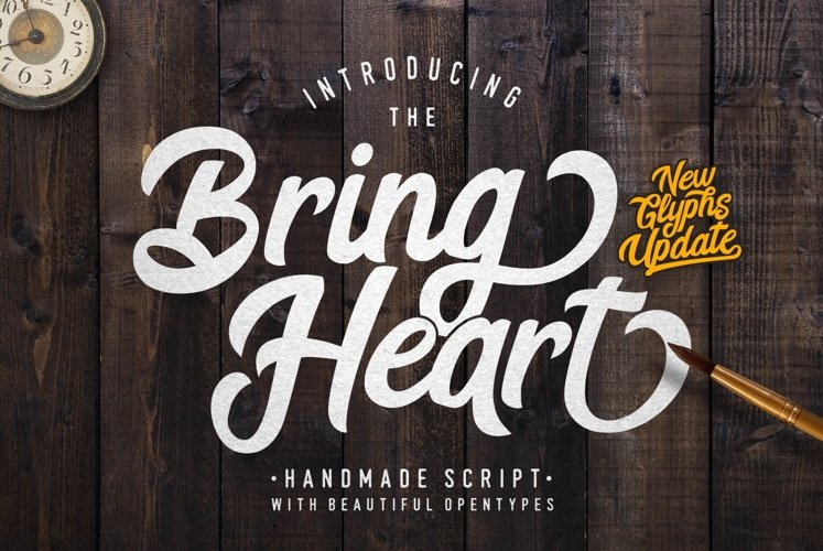 Web Font Bring Heart & Extras example image 1