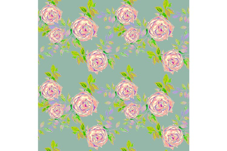 Seamless pattern with roses. example image 1