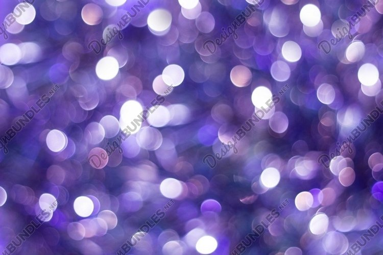Blue shiny glitter holiday beautiful abstract blur bokeh example image 1