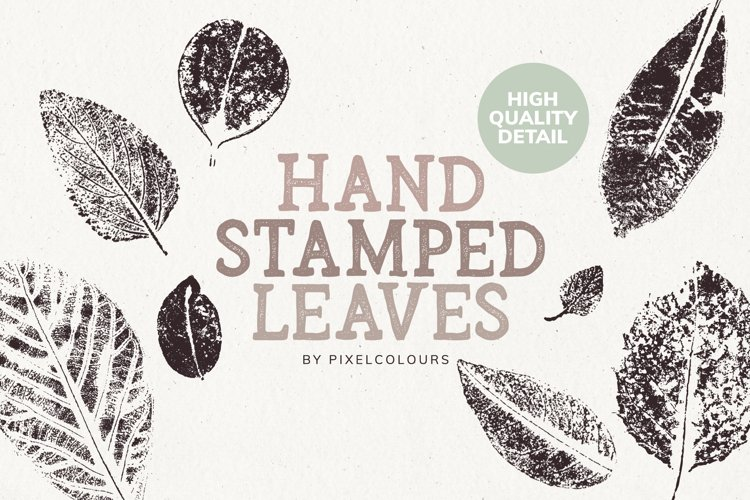 Hand Stamped Leaves example image 1
