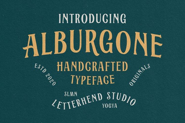 Alburgone - Display Typeface example image 1