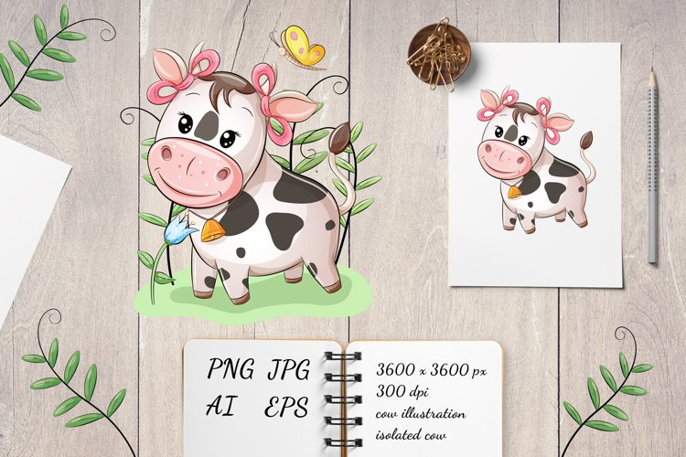 Baby Cow girl Sublimation| cow baby | PNG
