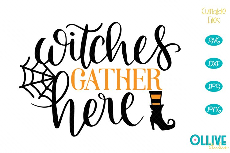 Halloween Sing Witches Gather Here SVG example image 1