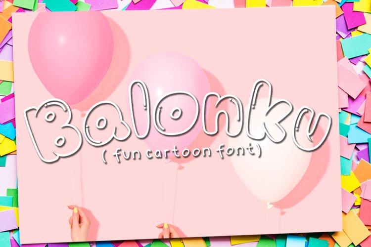 Balonku - Fun Cartoon Font example image 1