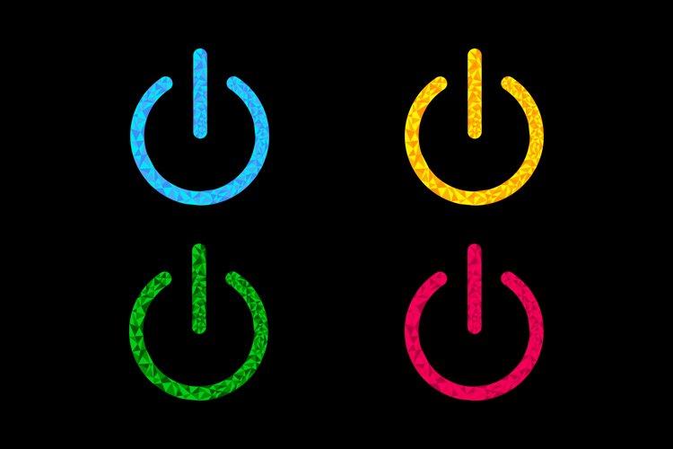 Power button icon set. example image 1