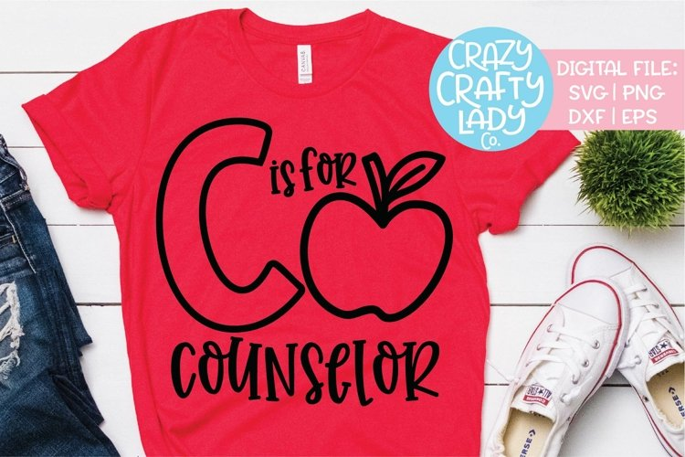 C Is for Counselor SVG DXF EPS PNG Cut File