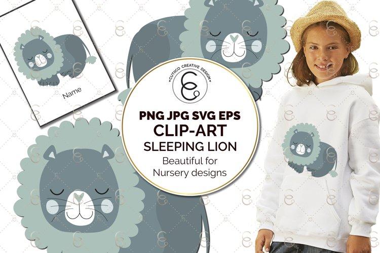 Lion Nursery Scandi Clip Art SVG PNG EPS