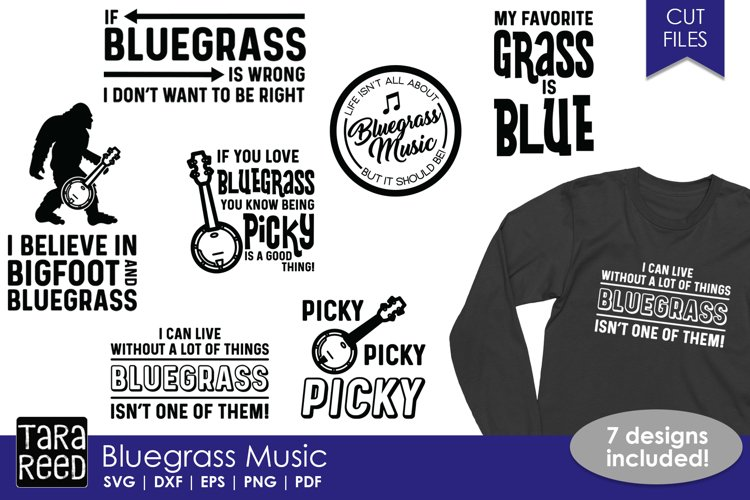 Bluegrass Music - SVG and Cut Files for Crafters