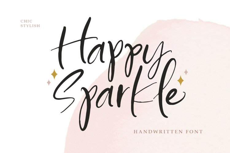 Happy Sparkle - Handwritten Font example image 1