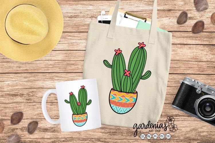 Cactus in Pot SVGs   Plant Cut Files   Succulent Clip Art