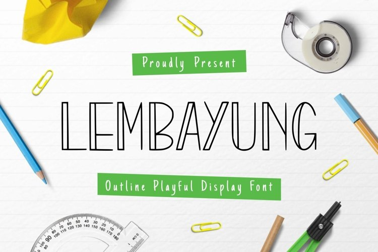 Web Font Lembayung example image 1