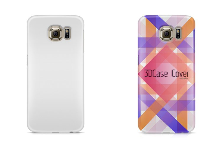 Samsung Galaxy S6 3dCase Mockup Back example image 1