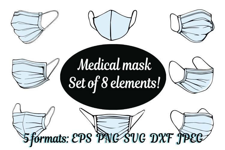 Face mask SVG,medical surgical mask, Mask SVG