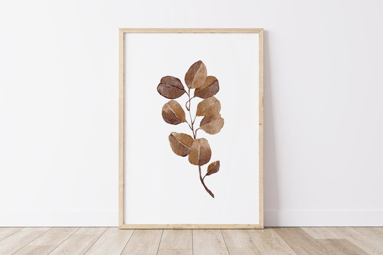 Watercolor Leaves Wall Art, Leaf Wall Print, Home Wall Decor