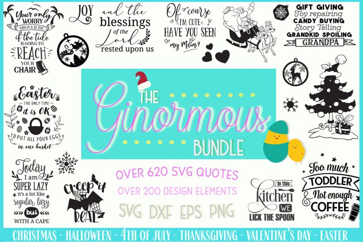 The Ginormous SVG Cut Files Bundle example image 1
